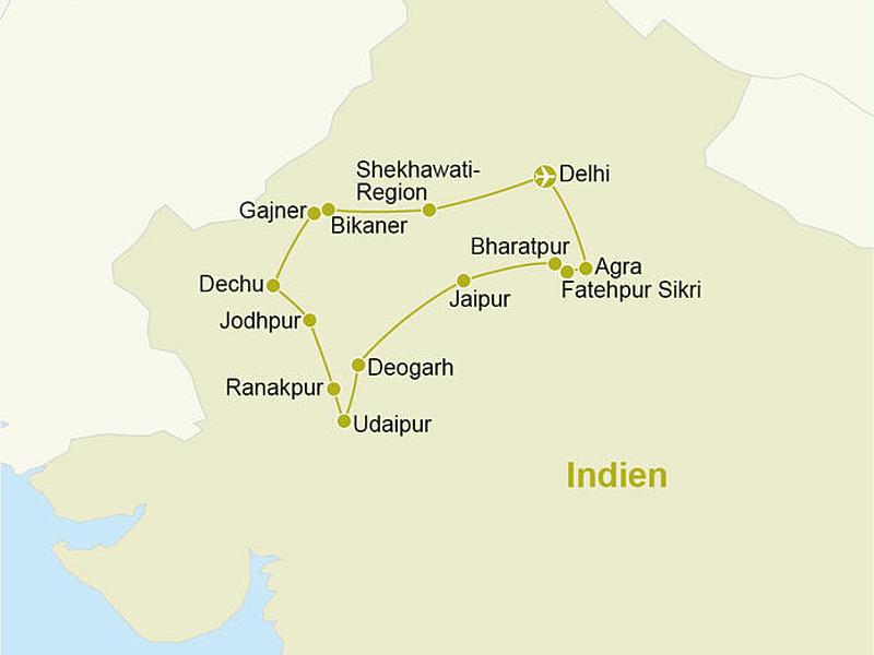 Indien - Reiseverlauf_Rundreise_Deluxe